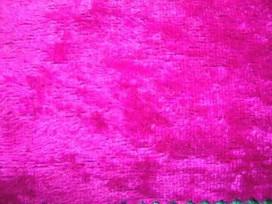 Velours de Panne  Fluor Pink  5666-17N
