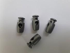 Koordstopper 1-gaats zilver 17mm lang
