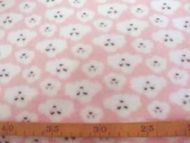 Coral Fleece  Roze met poedelkopjes  10225-11N