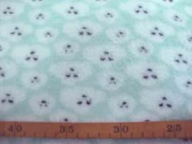 Coral Fleece  Mintgroen met poedelkopjes  10225-22N