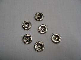 Jeansknoop Mat zilver 12mm jk362