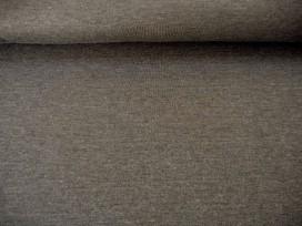 Iets dikkere kwaliteit Muisgrijs gemeleerde tricot. Ook heel geschikt voor jurkjes en rokjes. 70%pe/27%visc./3%sp. 1.50 mtr.br.