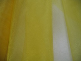 Organza stof geel
