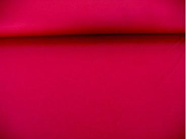 Iets dikkere kwaliteit warmrode tricot. Ook heel geschikt voor jurkjes en rokjes. 70%pe/27%visc./3%sp. 1.50 mtr. br.