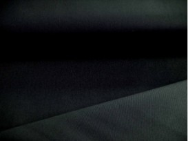 Een zwarte stretch keperkatoen. 97%katoen/3% spandex 1.30 mtr. br.