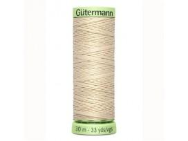 Wat dikker siersteekgaren van Gutermann     Licht beige  169  30 mtr