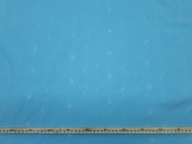 Broderie lichtblauw met takjes 9581-6