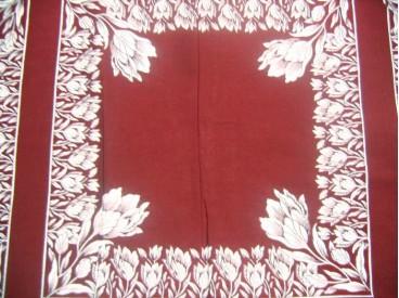 Boerenzakdoek van 100% katoen, die nog omgezoomd moet worden.  45 x 45 cm.  OP=OP