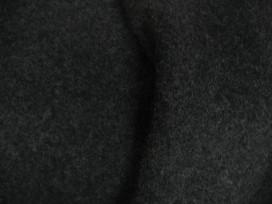 Een mooie zware kwaliteit voorgekookte antracietkleurige bouclé wol. Iets gemêleerd.  Rafelt niet!  100% wol  1.45 mtr. br.  410