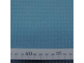 Oud blauw grof wafeldoek. Het blokje is ongeveer 7 x 7 mm.  100% katoen  1.47 mtr. breed  230 gr./M2