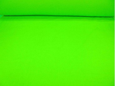 NEON Limekleurige anti pilling fluor fleece.  100% poly  1.50 mtr.br.