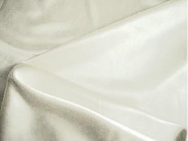 Een mooie kwaliteit witte stretch satijn. Ook heel geschikt om als voering te gebruiken.  97%pl./3%sp.  1.40 mtr. br.  100gr./m2