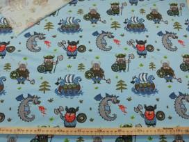 Oeko-Tex kindertricot Lichtblauw met viking 4709-02N