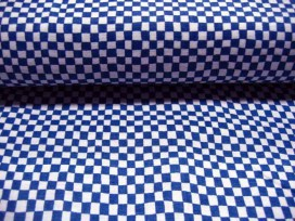 7e Quiltkatoen Blauw/wit ruitje 1004q