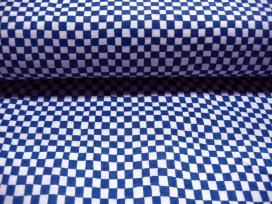 Quiltkatoen Blauw/wit ruitje 1004q