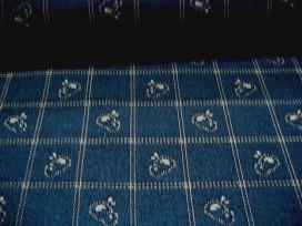 Quiltkatoen Blauw met kuikentjes 1005q