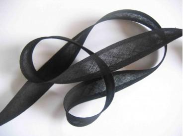 Zwart biaisband per rol van 20 meter. De prijs is per rol.  Dox biaisband.  100 % katoen  2cm breed