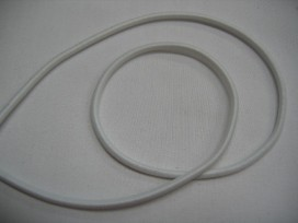 Koord elastiek wit 3 mm. Een rol van 50 meter.