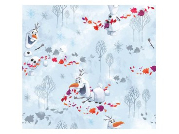 Disney stof Frozen. Met Olaf de sneeuwpop.  100% Gekaard poplin katoen (100% American Carded Cotton Poplin)  150 cm breed.  120