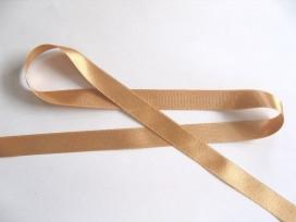 Satijnlint per rol van 25mtr.  Helder Goud 15mm 287