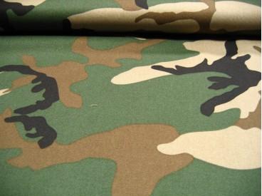 Legerstof groen/bruin/zwart/zand 6000L