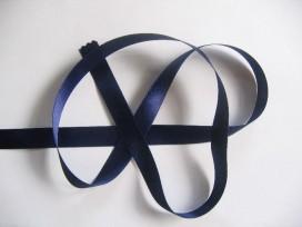 Satijnlint Donkerblauw per rol van 25 mtr  15 mm breed