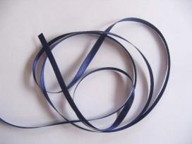 Satijnlint per rol van 25mtr.  Donkerblauw 6 mm