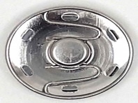Drukknoop zilver 30mm. Opnaaibaar 1200H