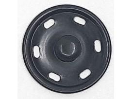 Naaibare zwarte drukknoop met een doorsnee van 30mm.  1 Drukknoop bestaat uit 2 delen, een mannetje en een vrouwtje.