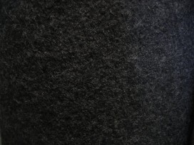 Walkloden bouclé wolvilt zwart  4578-69