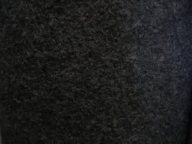 Walkloden boucle wolvilt zwart 4578-69