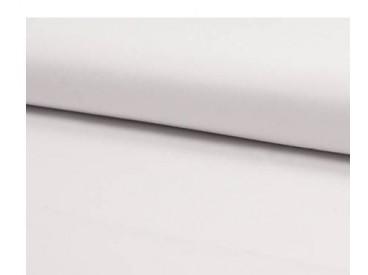 Deze witte katoen/polyester is geschikt voor mondkapjes.  65% polyester, 35% katoen.  1,40 meter breed  Wassen 80-90 graden.