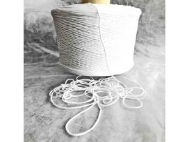 Zacht elastisch koord wit 2-3 mm doorsnee