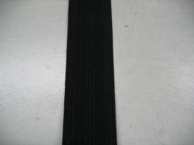 Zwart pyjama elastiek 12 mm breed