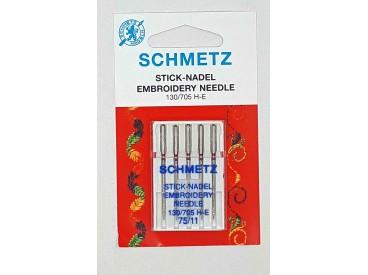 Schmetz Naaimachine naalden  Embroidery  75/11