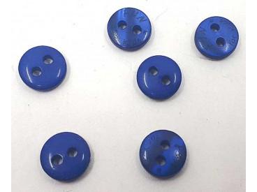 Een klein mini knoopje van Fun for Kids. Kleur kobalt.  Doorsnee 9mm  Met 2 gaatjes