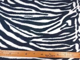 Coral fleece tijger zwart wit