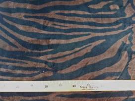 Coral fleece tijger donkerbruin