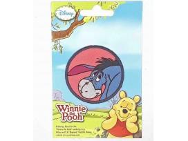 Winnie de Pooh applicatie  Cirkel Iejoor  Een opstrijkbare ronde applicatie met een doorsnee van 6 cm.