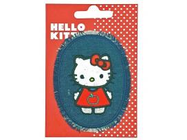 Hello Kitty Ovaal jeans Mini Staand rood jurkje en strik