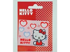Hello Kitty  Rechthoek  Roze met hartjes
