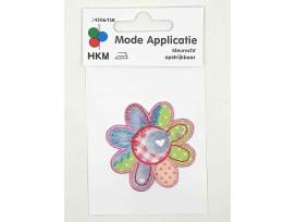 Bloem applicatie  met een patchwork print  Middel