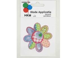 Bloem applicatie  met een patchwork print  Groot