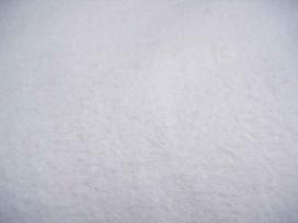 Een dikke kwaliteit witte flanel 100% katoen.  200 gram p/m²  2.40 mtr.br.