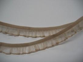 Elastisch kant met ruche Zand 15mm