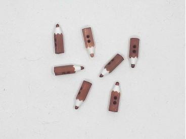 Kinderknoop potloodje bruin kkd91