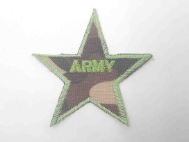 Leger applicatie Ster met army groen  leger11