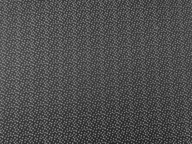 Poplin katoen  Zwart/wit Mini cirkeltjes 11100-69N