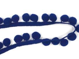 Pompom sierband Oekotex  Blauw