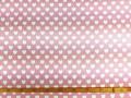 Canvas stof Roze met witte hartjes